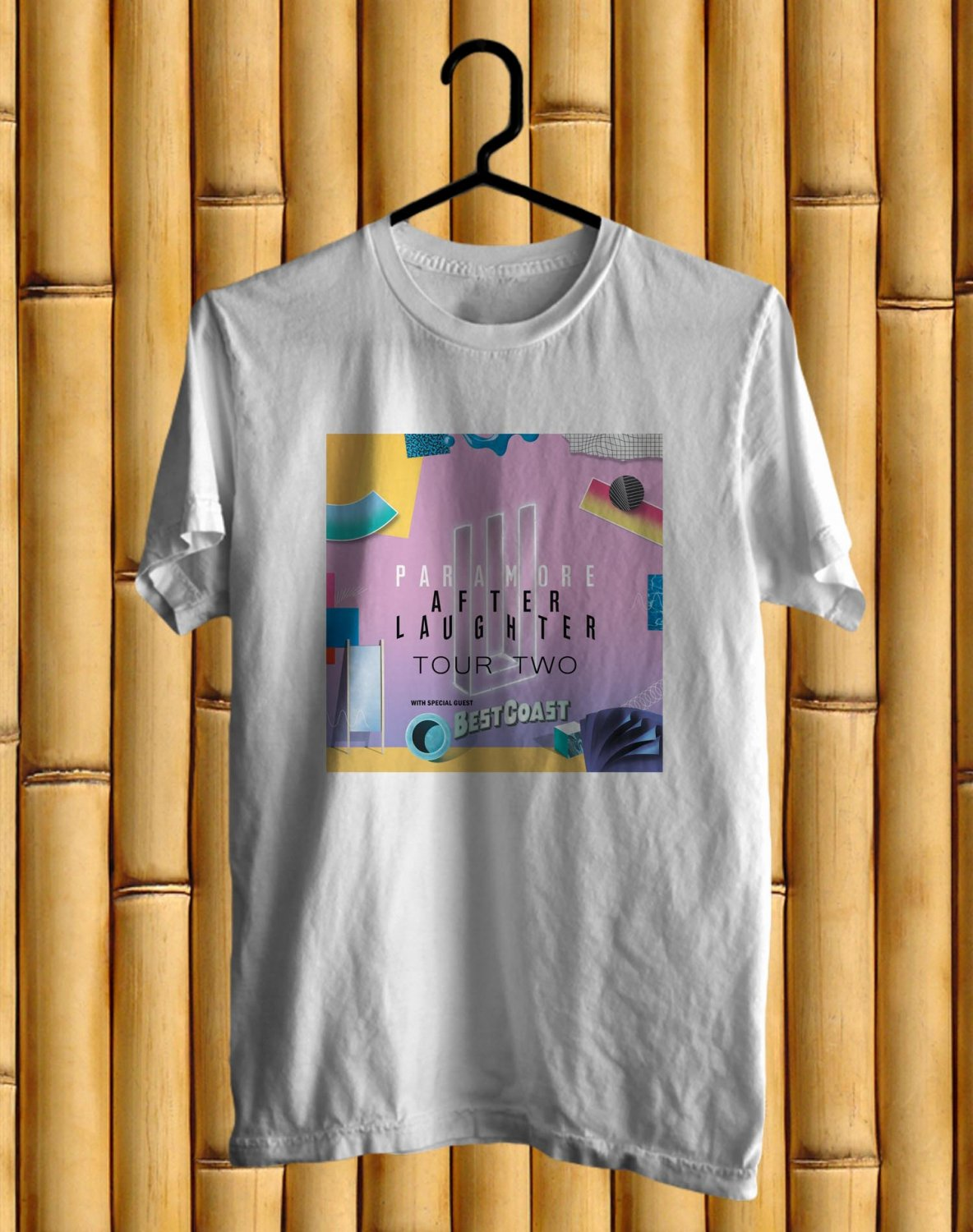 Paramore After Laughter New Album Tour 2017 White Tee's Front Side by Complexart