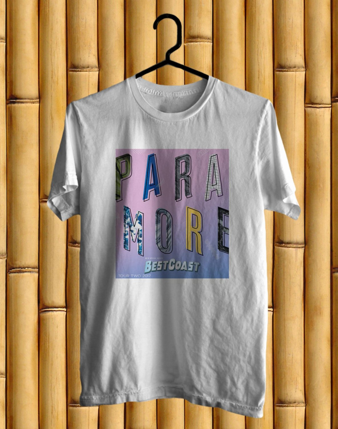 Paramore After Laughter New Album Tour 2017 White Tee's Front Side by Complexart z1