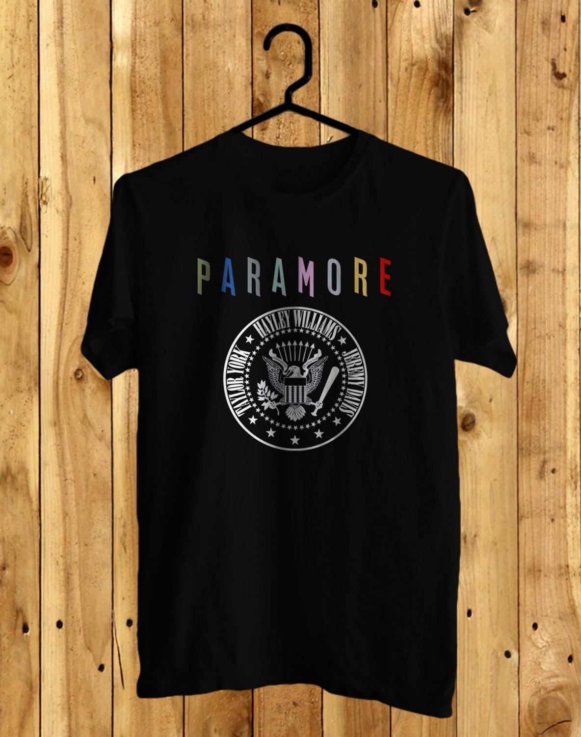 Paramore Tour 2017 Black Tee's Front Side by Complexart
