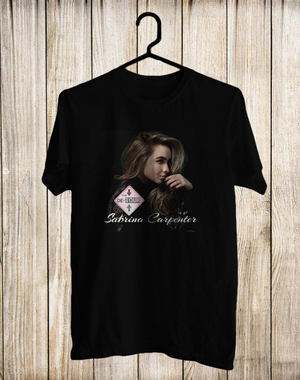 Sabrina Carpenter The De-Tour 2017 Black Tee's Front Side by Complexart z1