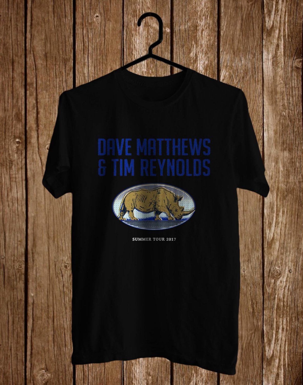 Dave Mattheews and Tim Reynolds Tour 2017 Black Tee's Front Side by Complexart z2