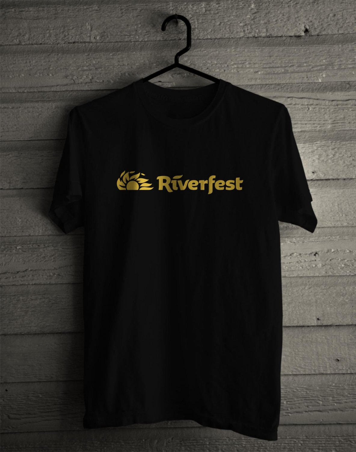 Wichita River Festival Logo Black Tee's Front Side by Complexart