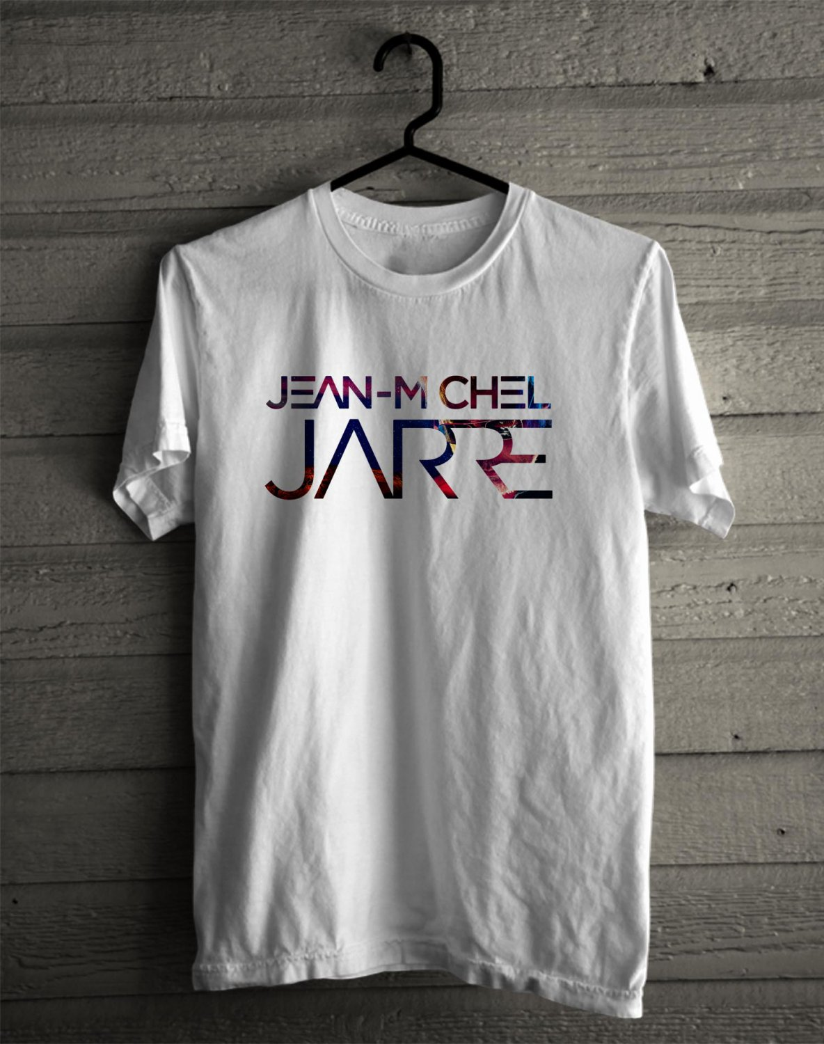 Jean-Michel Jarre Tour 2017 White Tee's Front Side by Complexart