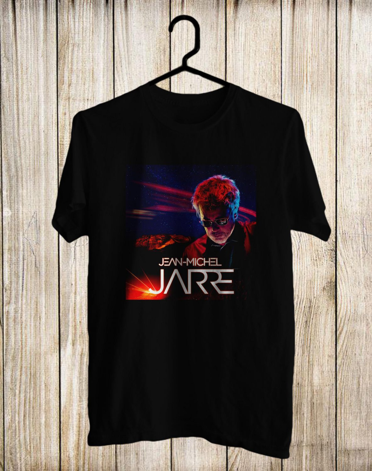 Jean-Michel Jarre Tour 2017 Black Tee's Front Side by Complexart z1