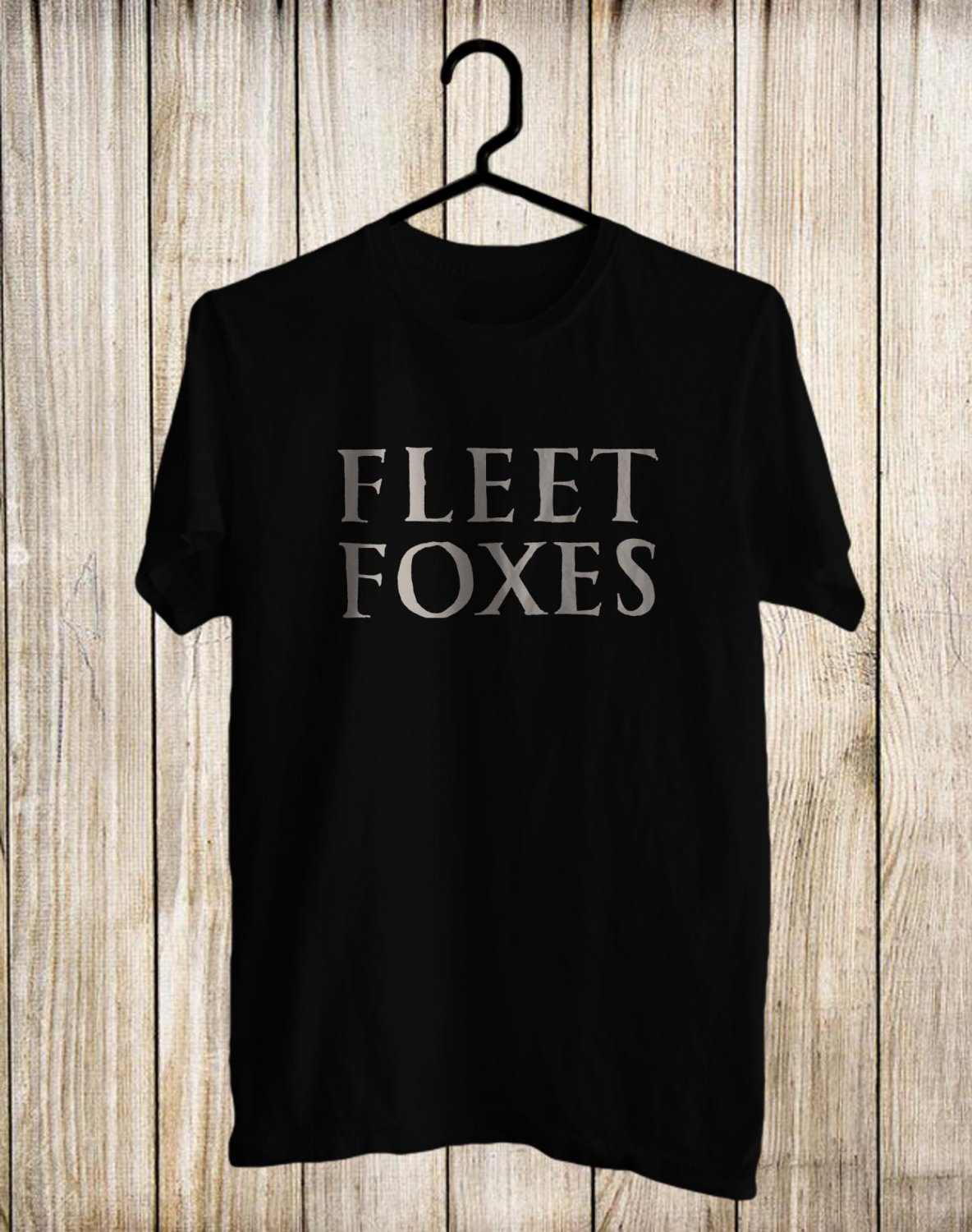 Fleet Foxes Logo for Tour 2017 Black Tee's Front Side by Complexart