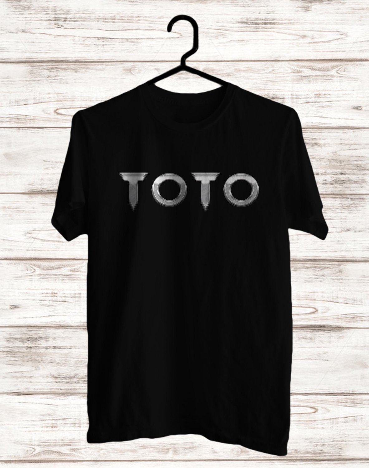 Toto Band Logo 2017 Black Tee's Front Side by Complexart