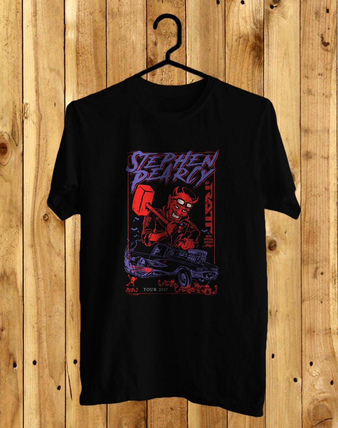 Stephen Pearcy Tour 2017 Black Tee's Front Side by Complexart z3