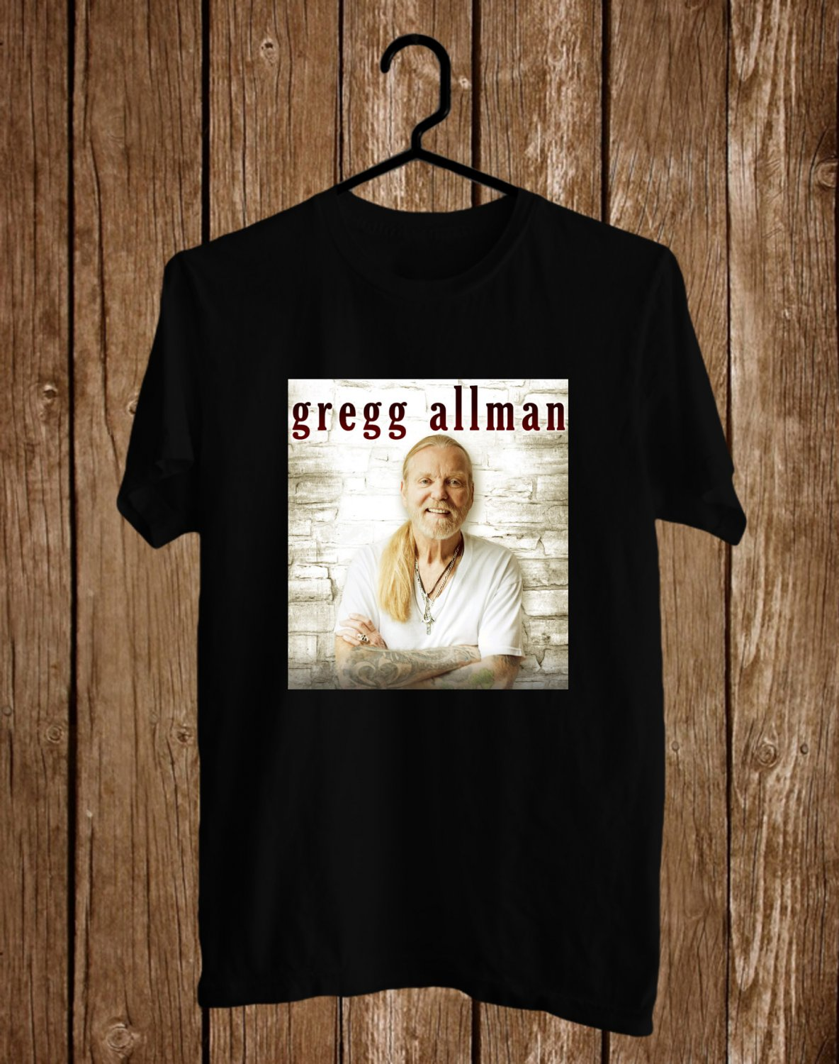 Tribute to Gregg Allman Black Tee's Front Side by Complexart