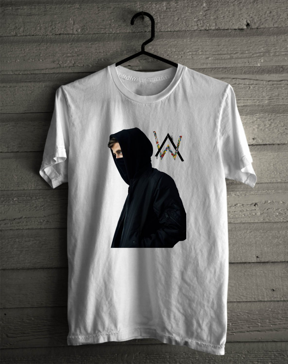 Alan Walker Summer Tour 2017 White Tee's Front Side by Complexart z1