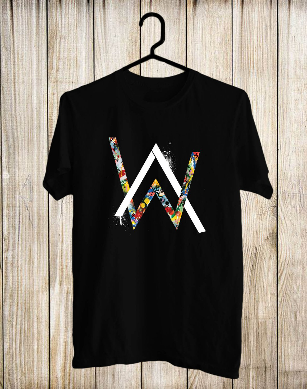 Alan Walker Logo 2017 Black Tee's Front Side by Complexart