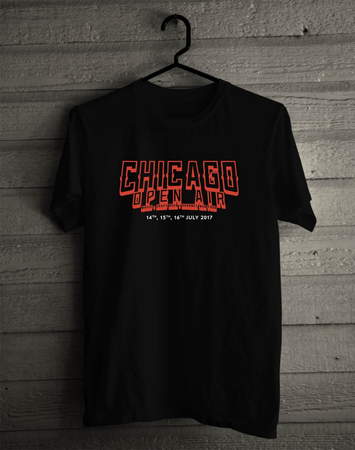Chicago Open Air Festival Jul 2017 Black Tee's Front Side by Complexart z2