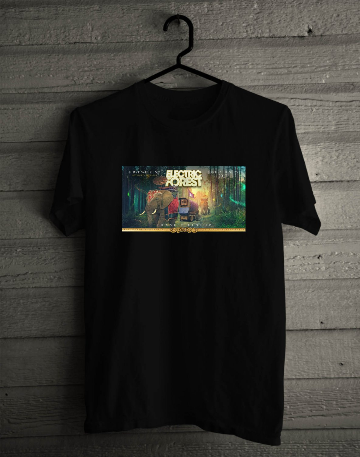 Electric Daisy Carnival Las Vegas 2017 Black Tee's Front Side by Complexart z3