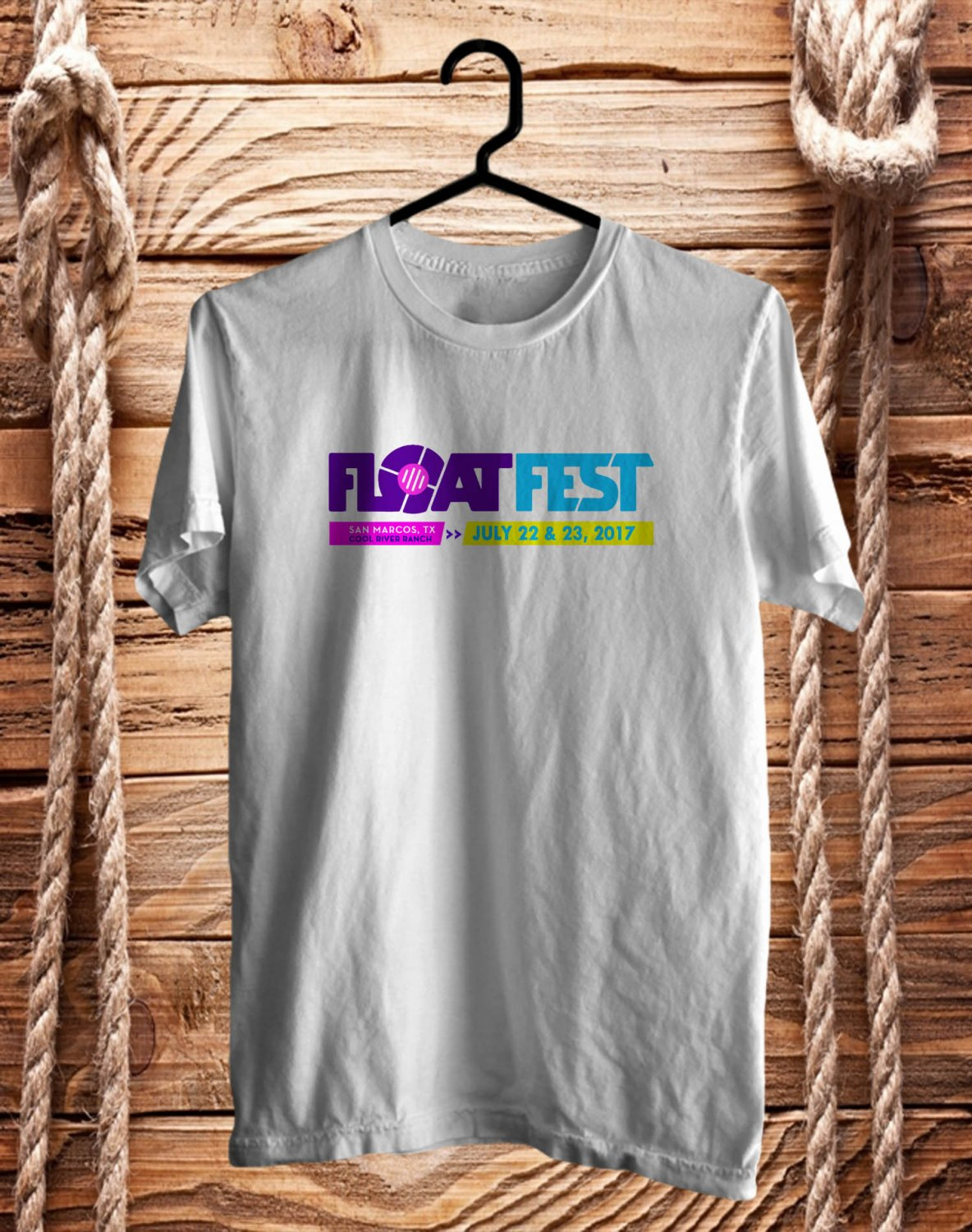 Float Fest July 2017 White Tee's Front Side by Complexart