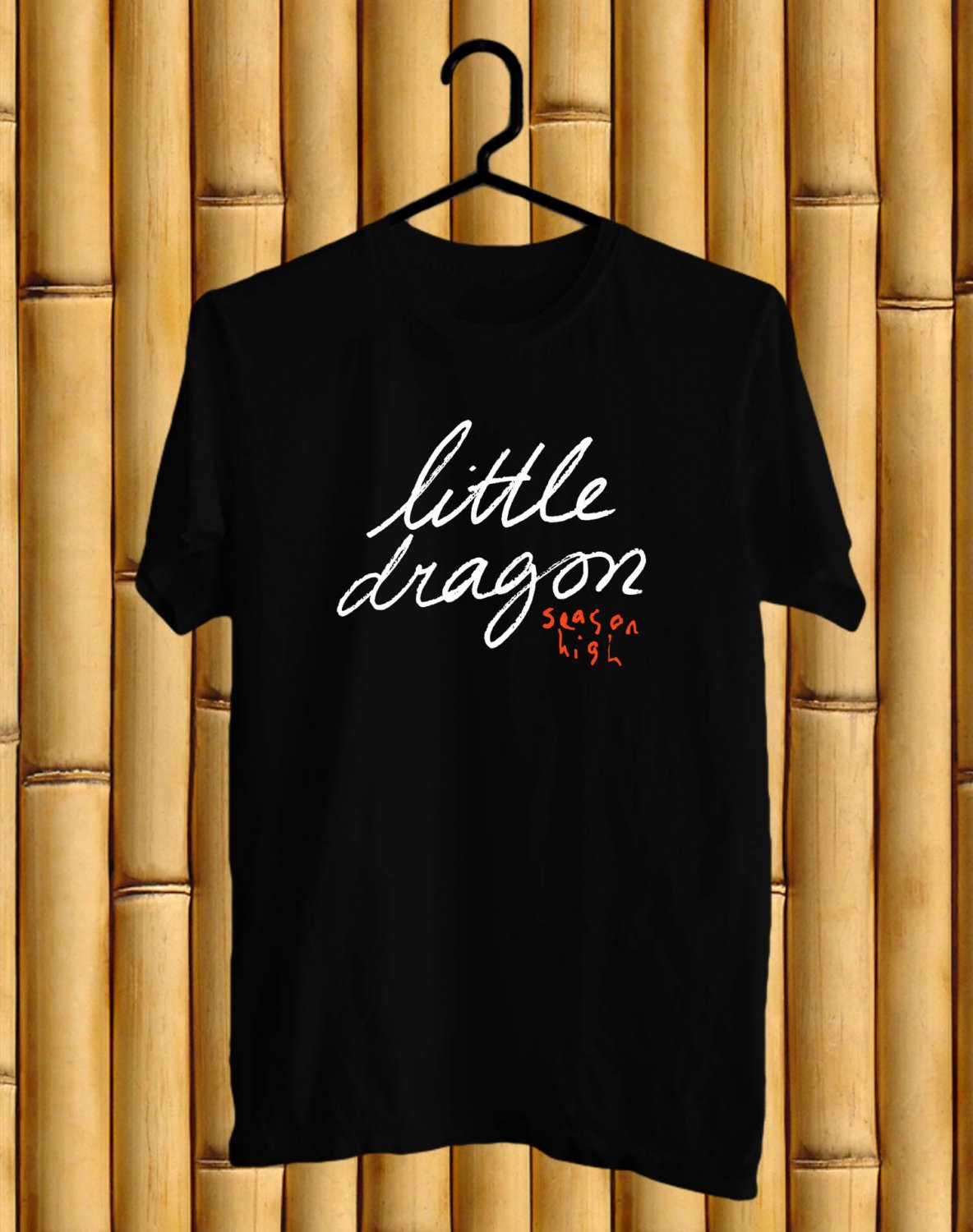 Little Dragon Logo Black Tee's Front Side by Complexart