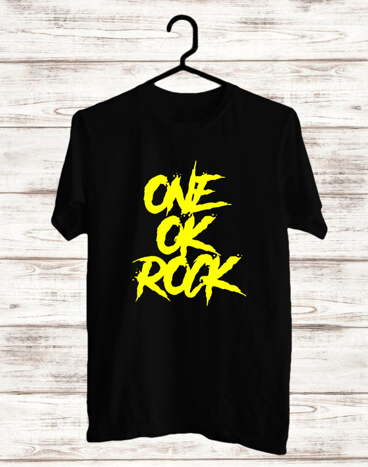 One OK Rock Logo Black Tee's Front Side by Complexart