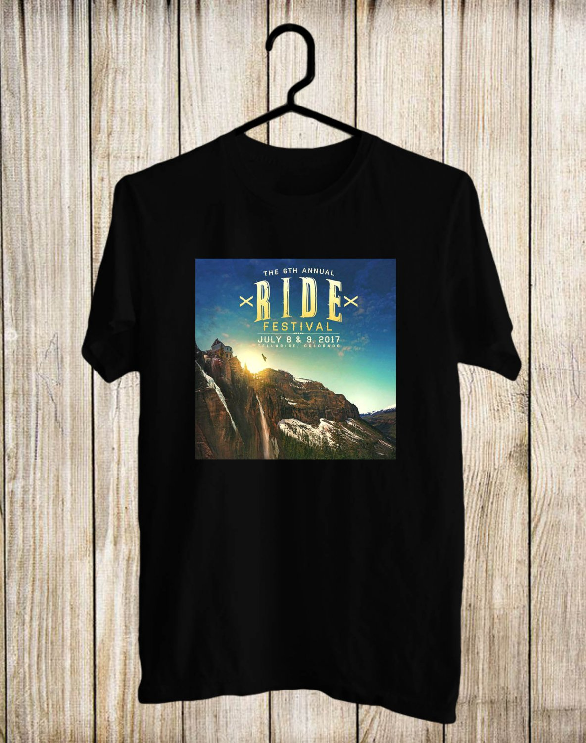 The Ride 6th Fest 2017 Black Tee's Front Side by Complexart
