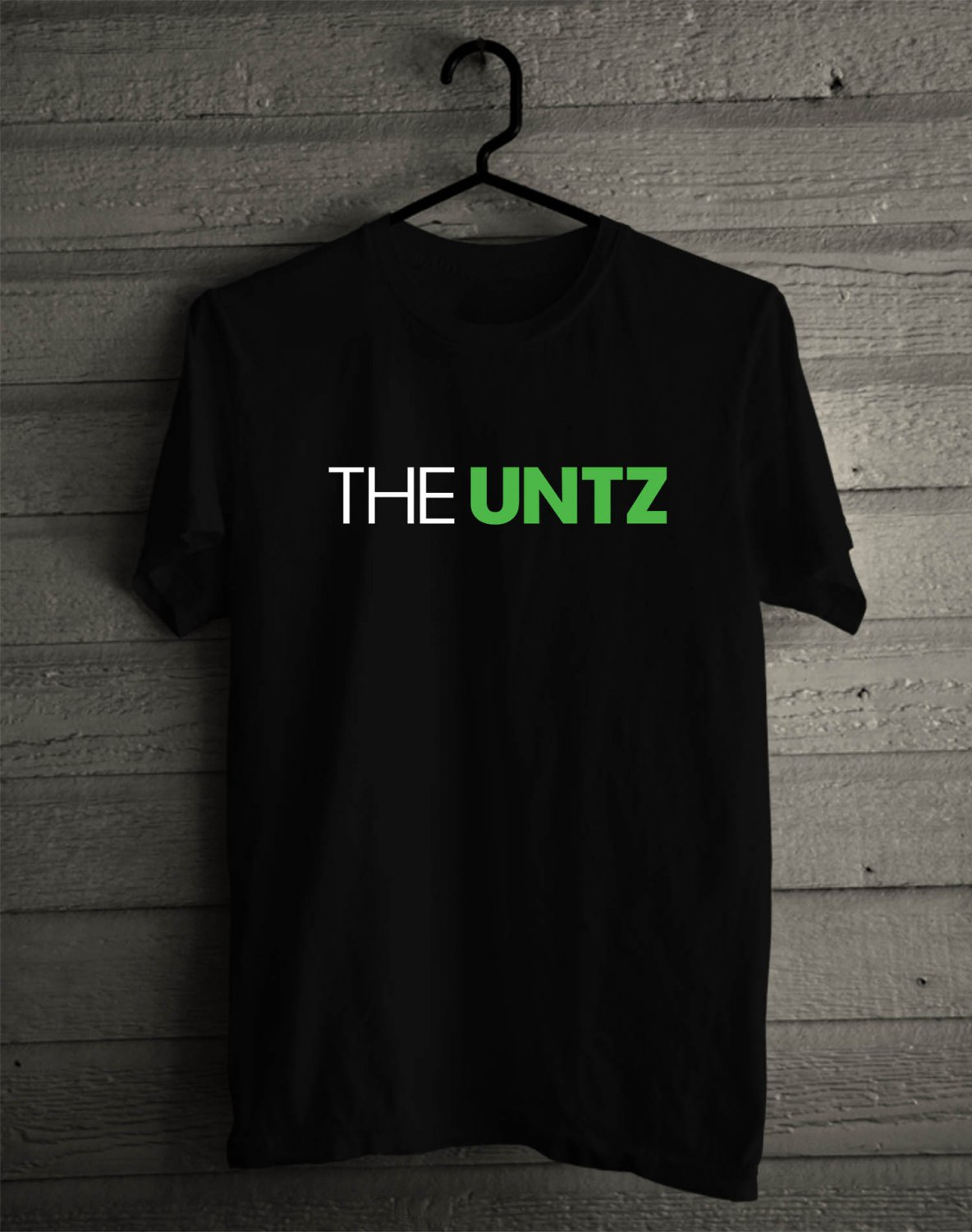 The Untz Festival logo Black Tee's Front Side by Complexart z1