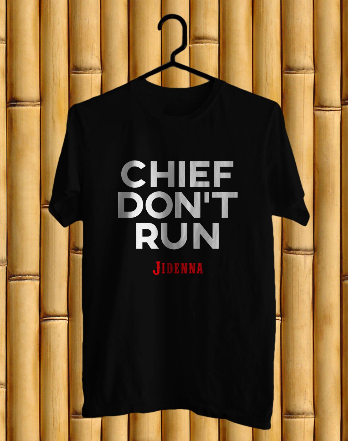 Jidenna Long live The Chief logo Black Tee's Front Side by Complexart z1