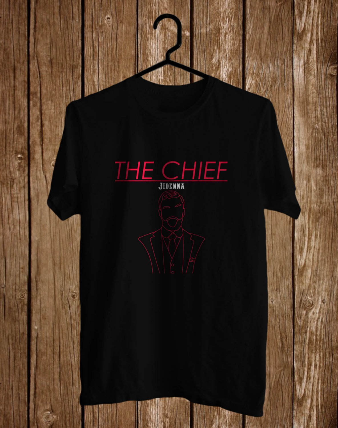 Jidenna The Chief logo Black Tee's Front Side by Complexart