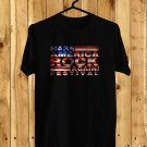 Make America Rock Again logo Black Tee's Front Side by Complexart
