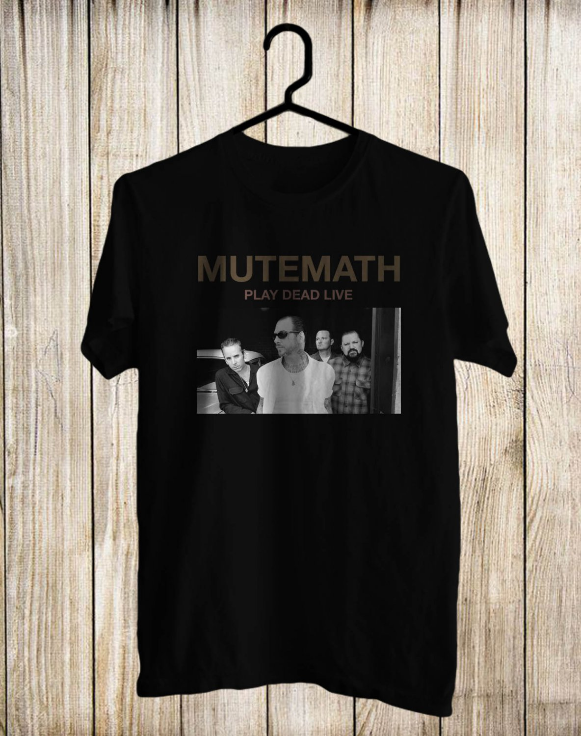 Mutemath Play Dead Alive Tour 2017 Black Tee's Front Side by Complexart