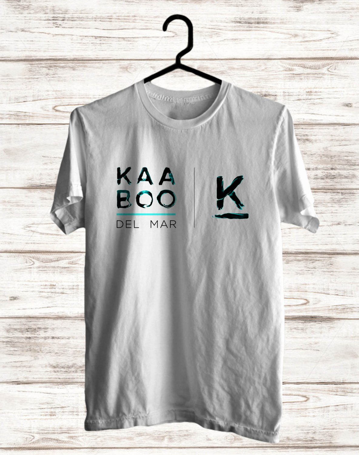 Kaaboo Music fest Logo White Tee's Front Side by Complexart