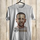 RIP Chester Bennington Linkin Park Vocalis White Tee's Front Side by Complexart z1