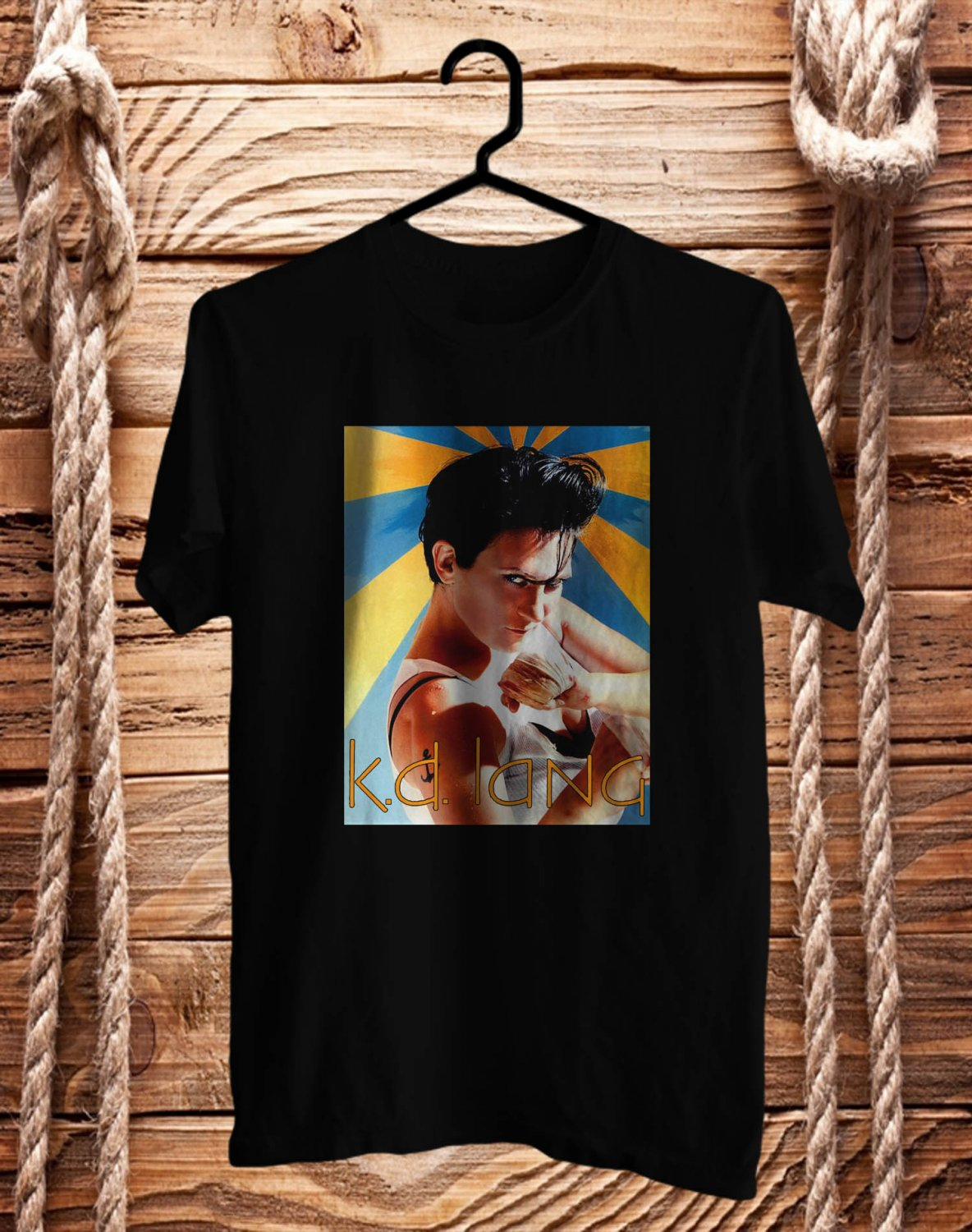 K.D. Lang Black Tee's Front Side by Complexart