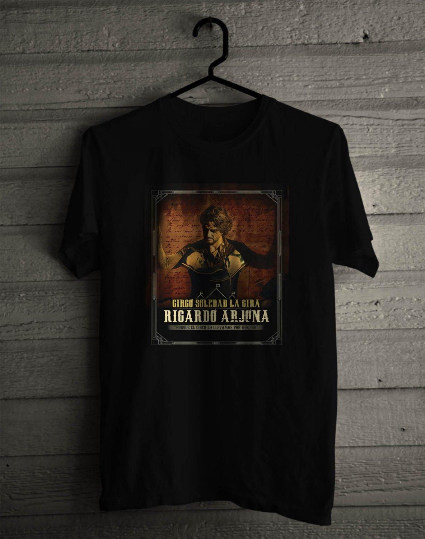 Ricardo Arjona Circo Soeldad Tour 2017 Black Tee's Front Side by Complexart