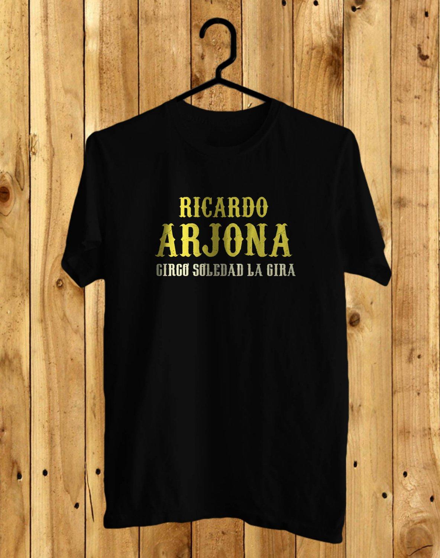 Ricardo Arjona Circo Soledad Tour 2017 Black Tee's Front Side by Complexart z3