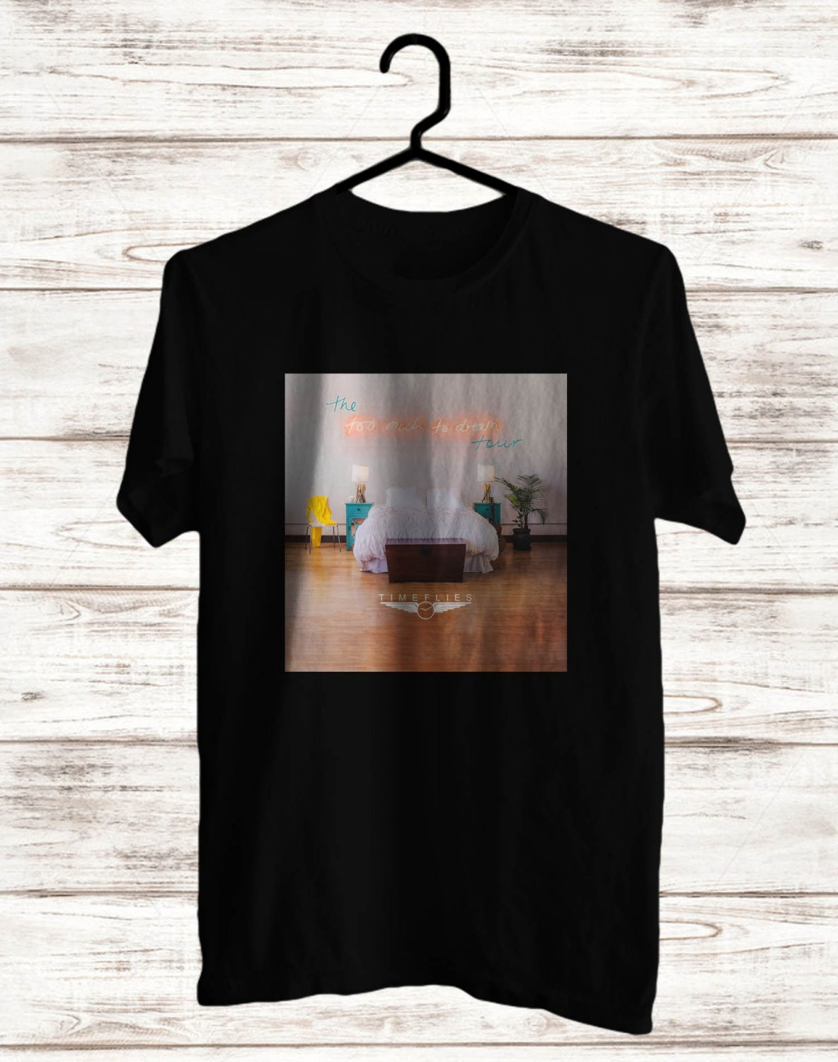 Timeflies Too Much Too Dream Logo Tour 2017 Black Tee's Front Side by Complexart z3