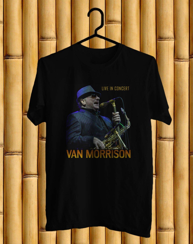 Van Morrison World Live 2017 Black Tee's Front Side by Complexart z1