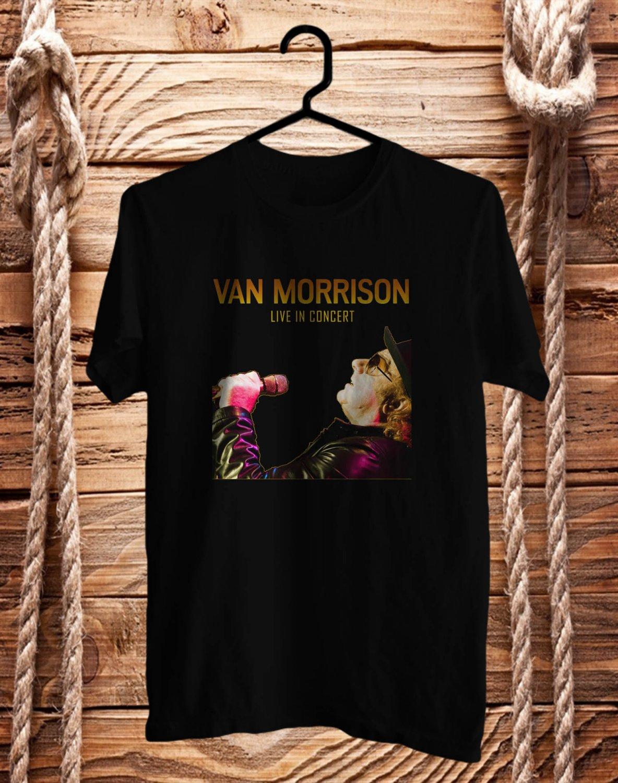 Van Morrison World Live 2017 Black Tee's Front Side by Complexart z2