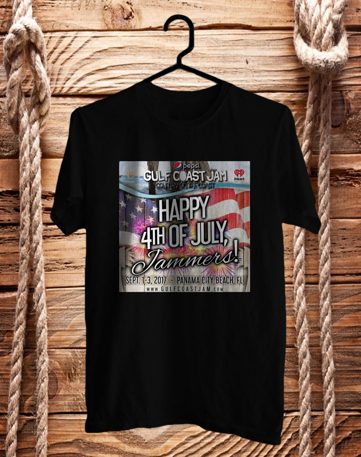 Pepsi Gulf Coast Country Jam 2017 Black Tee's Front Side by Complexart z2