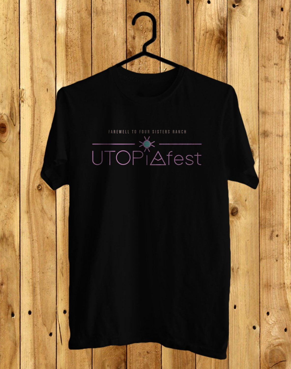 Utopia Music Festival 2017 Black Tee's Front Side by Complexart