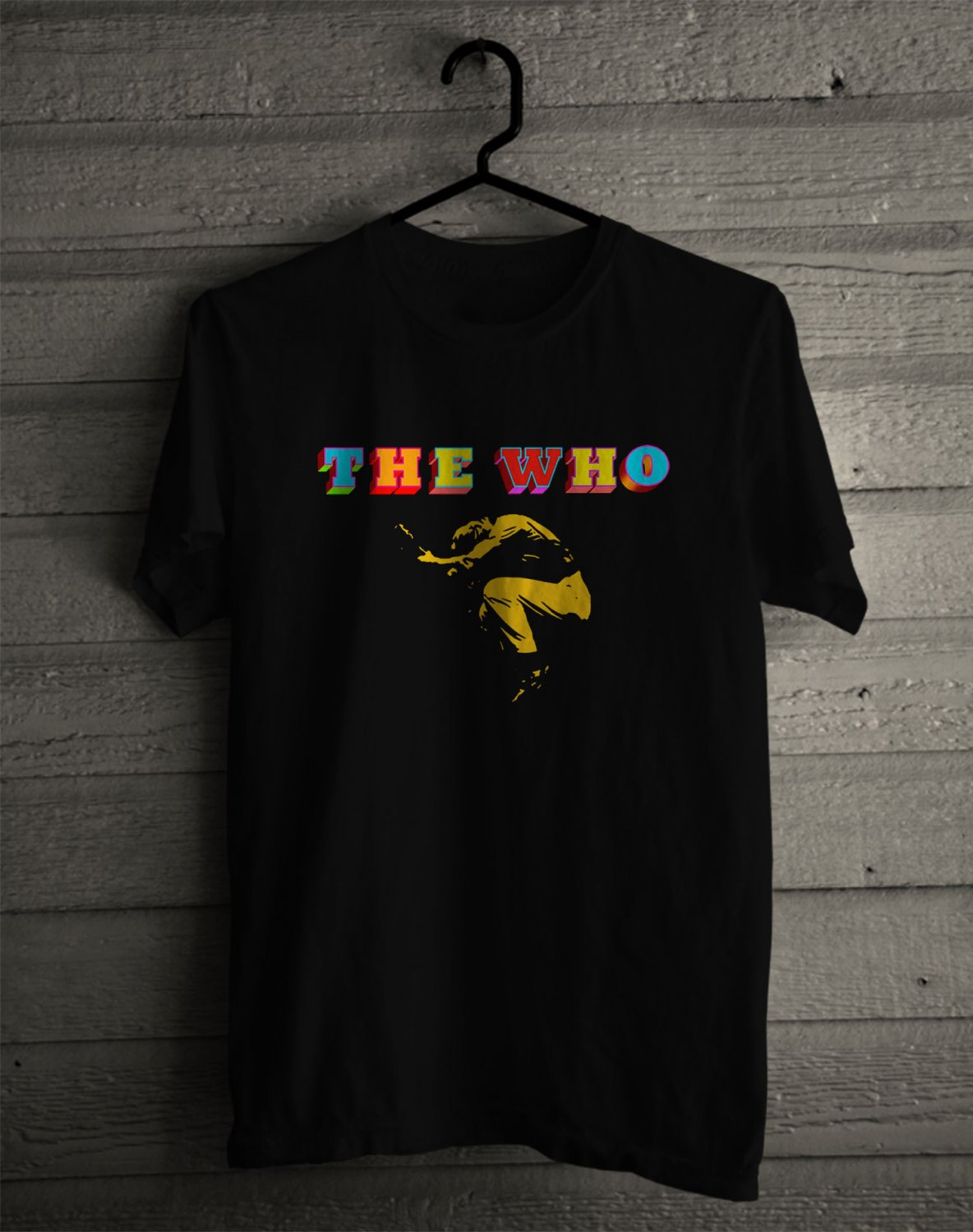 The Who Logo Black Tee's Front Side by Complexart