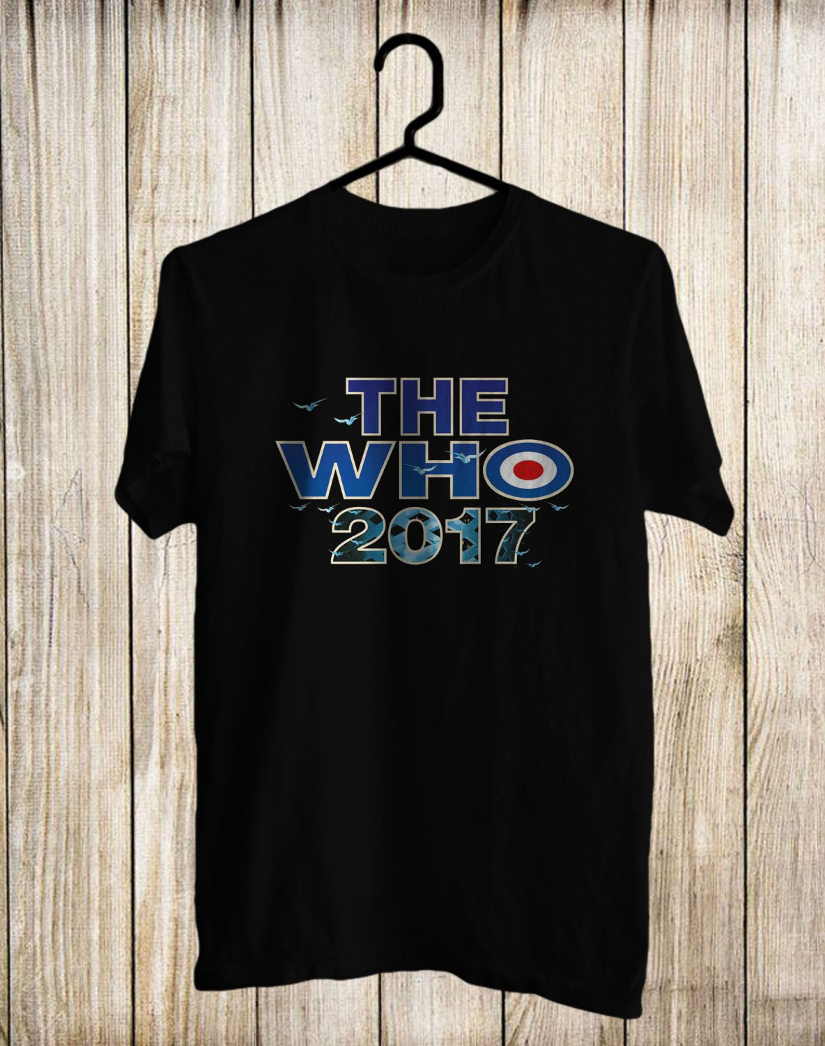 The Who Tour 2017 Black Tee's Front Side by Complexart z4