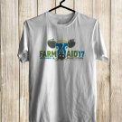 Farm Aid Music festival 2017 White Tee's Front Side by Complexart