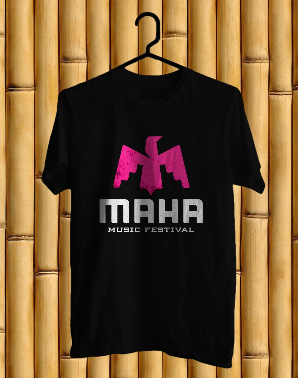 Maha Music festival 2017 Black Tee's Front Side by Complexart z1