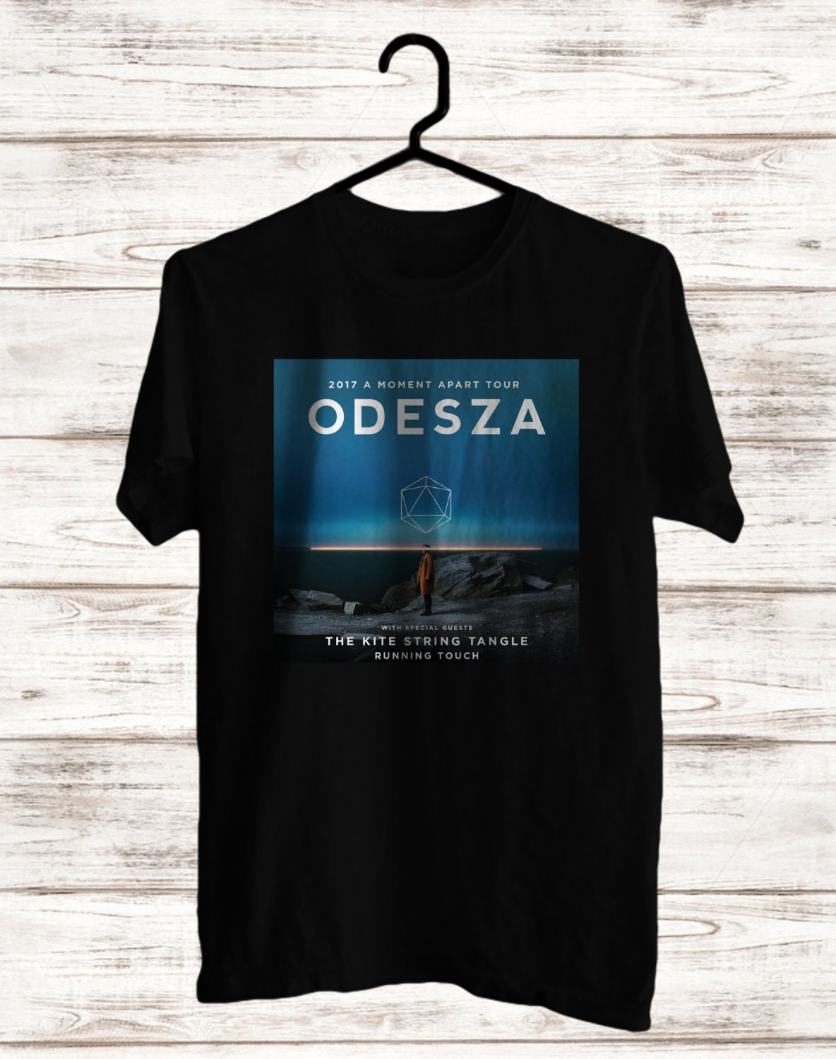 Odesza A Moment Apart Tour 2017 Black Tee's Front Side by Complexart z1