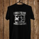 John Prine Better or Worse 2017 Black Tee's Front Side by Complexart