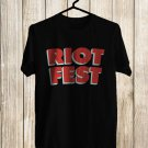 Riot Fest Sept Logo 2017 Black Tee's Front Side by Complexart