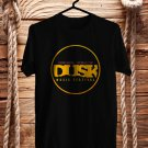 Dusk Music Fest Logo Oct 2017 Black Tee's Front Side by Complexart z2