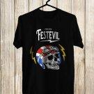 Them Evil Fest Logo 2017 Black Tee's Front Side by Complexart z1