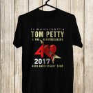 In Memorabilia of Tom Petty 1950-2017 Black Tee's Front Side by Complexart