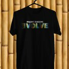 Imagine Dragons Evolve Logo 2017 Black Tee's Just Front Side by Complexart z1