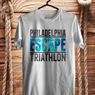 Philadelphia Escape Triathlon Logo 2017 White Tee's Front Side by Complexart