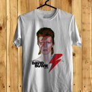 Celebrating David Bowie Tour 2018 White Tee's Front Side by Complexart z1
