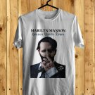 Marylin Manson Heaven upside Down Tour 2018 White Tee's Front Side by Complexart z2
