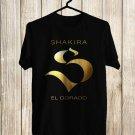 Shakira logo El Dorado Tour 2018 Black Tee's Front Side by Complexart z1